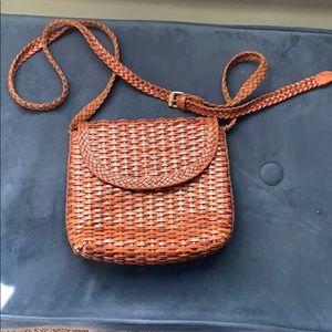 Vintage Basket weave leather purse